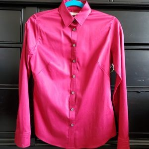 Banana republic button up non-iron fitted shirt